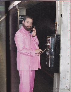 c5148153 Kappa Alpha Psi: Pretty Playboy · Zach Galifianakis in his subway pink best.  Make Em Laugh, Make Me Smile,