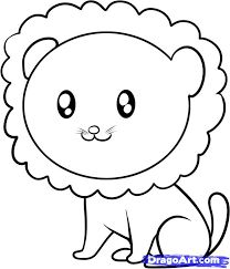 Simple drawings for kids How to draw lion How to Draw