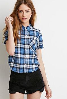 Boxy Plaid Shirt