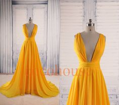 Hey, I found this really awesome Etsy listing at https://www.etsy.com/listing/206946010/dark-yellow-sexy-long-prom-dresses