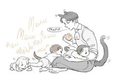 Attack in Titan Levi mpreg babies, catdads
