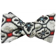 Abstract print, vintage, Japanese silk bow tie Silk Bow Ties, Bow Tie Wedding, White Weddings, Abstract Print, Vintage Japanese, Pocket Square, Black And White, Classic, Pattern