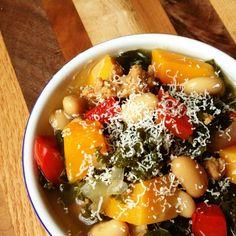 Turkey Sausage, Kale and Butternut Squash Soup - The Lemon Bowl