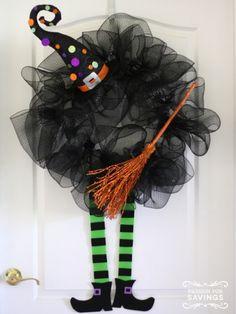 How to make a Halloween Wreath   DIY idea