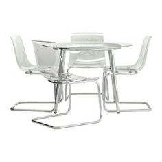 Current version of table and chairs in Ikea.  Mine has black metal legs