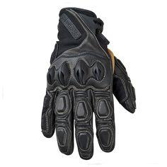 Bikers Gear Australia Vega Short Sports Leather Hard Knuckle Motorcycle Glove Size XL White
