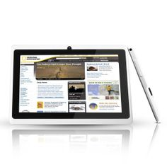 Riin 7-inch Capacitive Tablet Pc Android 4.0 Allwinner A13, 1.2g Hz Cpu+512mb Ddr3+4gb Flash Color White
