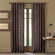 Delightful Malta 63 Inch Rod Pocket/Back Tab Window Curtain Panel In Chocolate Curtains  Bed
