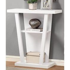 Hall White 32-inch Console Accent Table Coffee Modern Furniture Sofa Tables