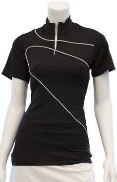 31583bdbb95744 EP New York Ladies Short Sleeve Golf Shirts - Culture Clash (Black Multi)