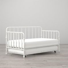 Little Seeds Monarch Hill Wren Metal Daybed with Trundle Twin, Multiple Colors, White Metal Daybed With Trundle, Twin Trundle Bed, Kids Daybed, Big Girl Rooms, Kids Rooms, Full Bed, Metal Beds, Mellow Yellow, Kids Furniture