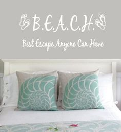 Large Beach Themed Wall Decal Flip Flops by 2VinylDivas on Etsy, $13.00