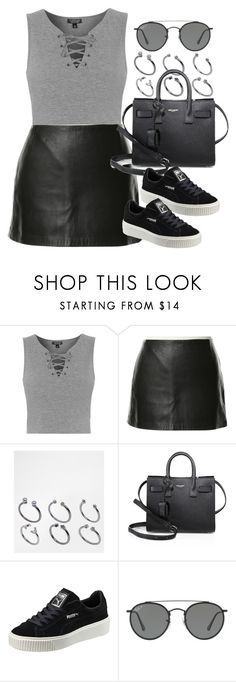 Sin título #12372 by vany-alvarado ❤ liked on Polyvore featuring Topshop, Zimmermann, ASOS, Yves Saint Laurent, Puma and Ray-Ban