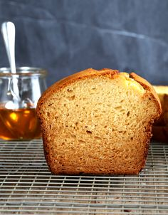 Get this tested recipe for gluten free honey bread. This moist tea cake is the perfect afternoon snack!