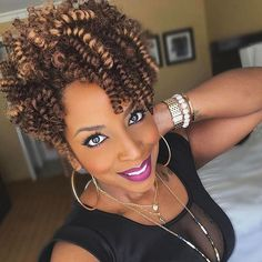 51 Stunning Finger Coils for Black Women – New Natural Hairstyles Curly Crochet Hair Styles, Crochet Braid Styles, Curly Hair Styles, Natural Hair Styles, Ponytail Styles, New Natural Hairstyles, Twist Hairstyles, Black Hairstyles, Short Crochet Braids Hairstyles