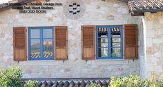 Architectural Shutters Crafted in Solid Teak - mediterranean - exterior - los angeles - Dynamic Garage Door