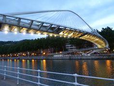 Zubizuri Bridge, Bilbao, Spain