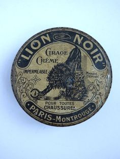 vintage french shoe polish tin by abrownpaperparcel on Etsy