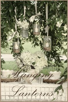 HANGING LANTERNS TABLESCAPE - StoneGable