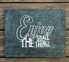 Enjoy the Small Things Rustic Crackle Sign Black by RaggedRelicsTX