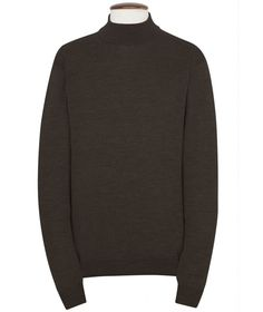 Roll Neck Sweater, Cashmere Blend - Charcoal Black