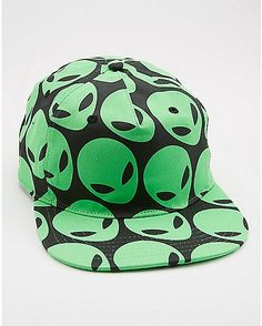 adb59013bb7 Alien Head Printed Snapback Hat - Spencer s