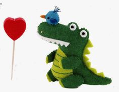 Crocodile Free Japanese Felt Sewing Pattern Download