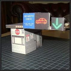 Security Checkpoint For Diorama Free Building Paper Model Download - http://www.papercraftsquare.com/security-checkpoint-diorama-free-building-paper-model-download.html