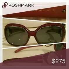 Worn 2x Emilio Pucci sunnies!! Stunning burgundy emilio pucci sunglasses! Worn maybe 2x. The only thing is they were made to my prescription so just replace lenses and they are literally in pristine condition. Comes in original box! Emilio Pucci Accessories Sunglasses
