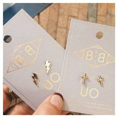 Super thick 14k plated gold studs with hypoallergenic posts, cos you guys know that's how WE roll! (No itchy ears, no green fingers - f*ck that!). #BingBangxUO #BBNYCxUO