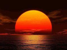 Coucher de soleil: