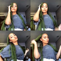 Protective Hairstyles, Protective Styles, Braided Hairstyles, Little Mix Jesy, Colored Braids, Sisters Forever, Jessica Chastain, Faux Locs, Queen