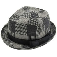 Knuckleheads' Plaid Straw Fedora