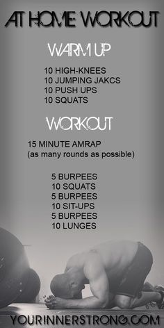 15 Minute at Home or Hotel Workout. [even without weights, this is a tough one.]