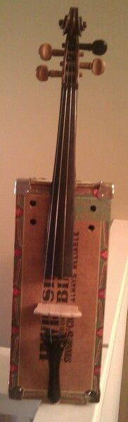 Cigar box violin by Salvaged Sounds