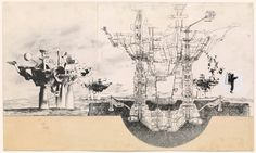 Haus-Rucker-Co. City 47 Project Cut and pasted silver gelatin photographs with graphite mounted on board 1967 Ba Architecture, Architecture Drawings, Architecture Details, Osaka, Photoshop, Beautiful Drawings, Art Google, Designs To Draw, Art History