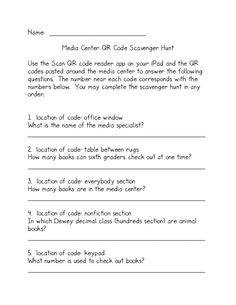 QR Code Library Orientation by Jennifer Lewis via Slideshare