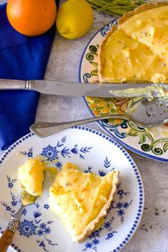 This Easy Lavender Citrus Curd Pie is a recipe that uses three different types of citrus . You can make it anytime you crave the warmth of the sun. Perfect for any occasion and any season. Lemon Curd Dessert, Lemon Curd Recipe, Lemon Desserts, Pie Dessert, Lemon Recipes, No Bake Desserts, Dessert Recipes, Easter Recipes, Easter Food