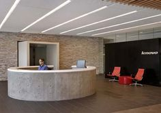 accent wall office reception - Google Search
