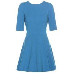 Dolce & Gabbana Virgin Wool Dress (€1.730) ❤ liked on Polyvore featuring dresses, vestidos, blue, dolce gabbana dress and blue dress