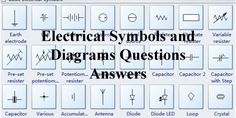 Electrical symbols used in industry today are what engineers use to identify parts of an equipment or make sense of a manufacturing process or operation or the sequence of an operation. Question And Answer, This Or That Questions, Electrical Symbols, Electrical Engineering, Diagram, Symbols, Engineering