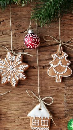 Christmas cookies ornaments iPhone wallpapers. Merry Christmas and Happy new year! Tap to see more Beautiful Christmas Tree Decor Ornaments wallpapers, lockscreen backgrounds, fondos! - @mobile9 #xmas