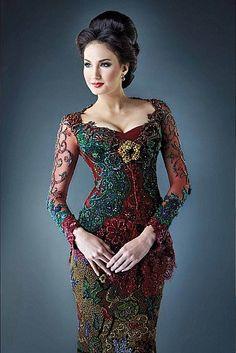 Ideas For Dress Brokat Untuk Orang Gemuk Kebaya Lace, Kebaya Brokat, Dress Brokat, Batik Kebaya, Kebaya Dress, Batik Dress, Kebaya Muslim, Foto Fashion, Fashion Models