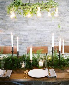 Table setting: Ferns