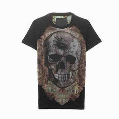 [G228]フィリップ・プレイン/PHILIPP PLEIN/HM345323 02/メンズ/半袖/Tシャツ/ブラック