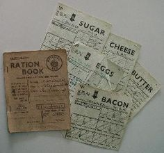 Ration Cards World War 1