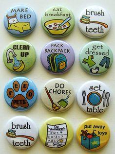 Chore chart magnets