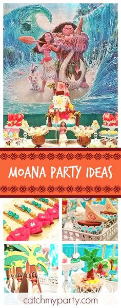 Take a look at this incredible Moana birthday party. The backdrop and balloon decorations are amazing! Moana Theme Birthday, Moana Themed Party, Moana Party, Luau Birthday, 6th Birthday Parties, Moana Birthday Decorations, Birthday Ideas, Special Birthday, Zoe S
