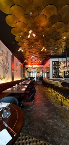Wolf Restaurant, Singapore designed by The Stripe Collective CEILING