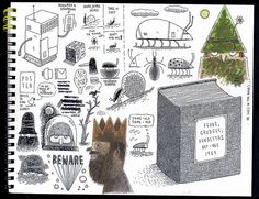 Tom Gauld's sketchbook pages are amazing.